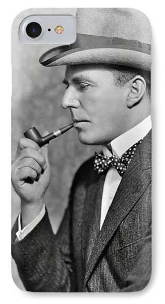House Peters Smoking A Pipe IPhone Case by Underwood Archives