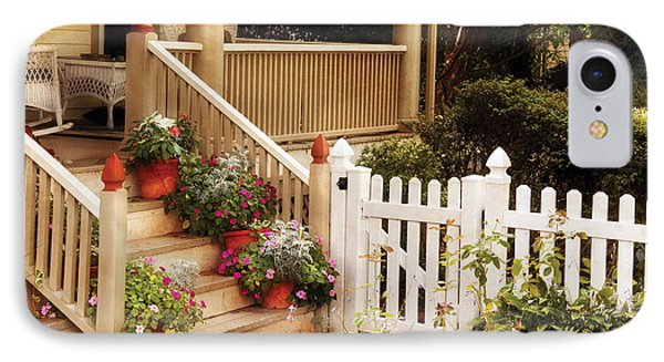 House - Rutherford Nj - My Grandmother's Garden  Phone Case by Mike Savad