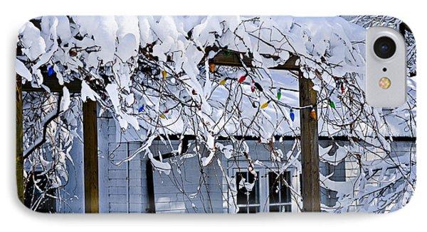 House Under Snow IPhone Case by Elena Elisseeva