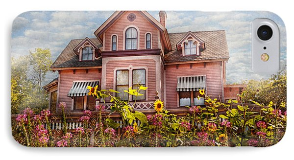 House - Victorian - Summer Cottage  Phone Case by Mike Savad