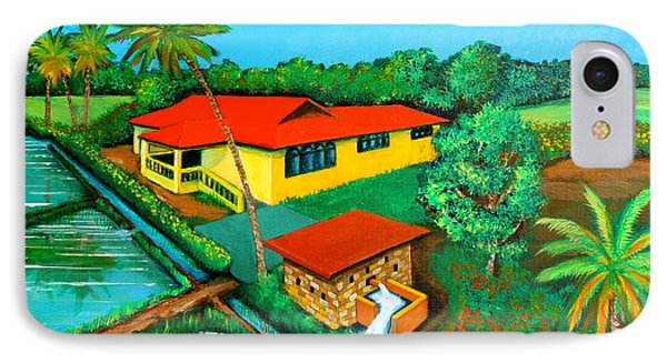 House With A Water Pump IPhone Case by Cyril Maza