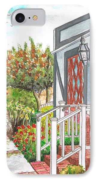 House With A White Handrail In Laguna Beach - California IPhone Case by Carlos G Groppa