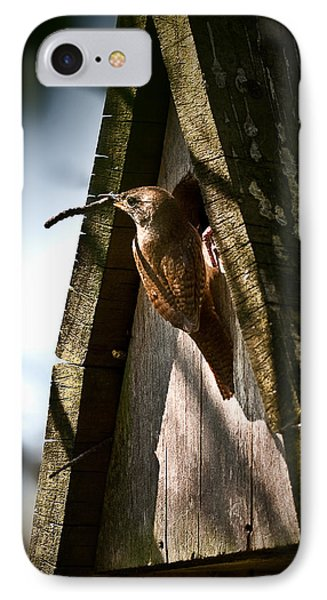 House Wren At Nest Box IPhone Case by  Onyonet  Photo Studios