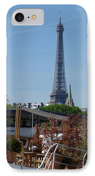 Houseboat On The Seine IPhone Case by Susan Alvaro