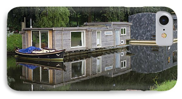 Houseboats In Canal IPhone Case by Hans Engbers