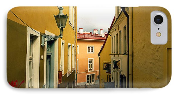 Houses Along A Street, Toompea Hill IPhone Case by Panoramic Images