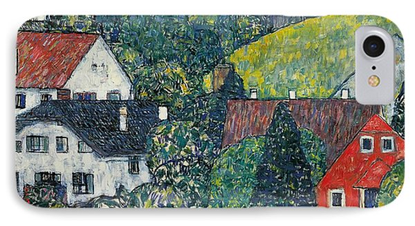 Houses At Unterach On The Attersee IPhone Case by Gustav Klimt