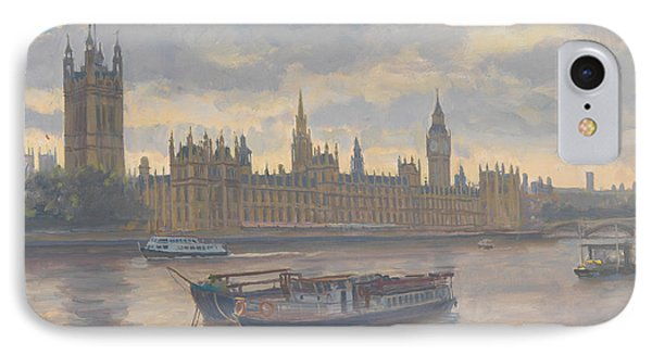 Houses Of Parliament IPhone Case by Julian Barrow