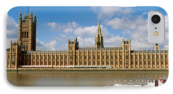 Houses Of Parliament, Water And Boat IPhone Case by Panoramic Images