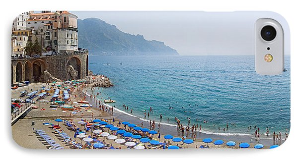 Houses On The Sea Coast, Amalfi Coast IPhone Case by Panoramic Images