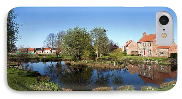 Houses Reflected In A Tranquil Pond IPhone Case