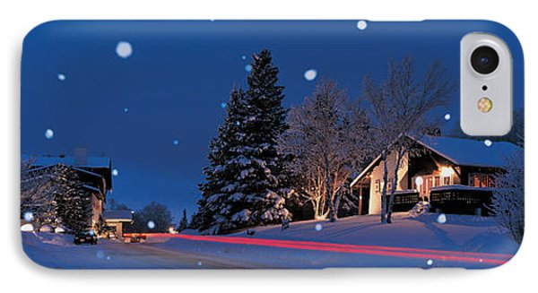Houses Snowfall Nh Usa IPhone Case
