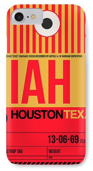 Houston Airport Poster 1 IPhone Case by Naxart Studio
