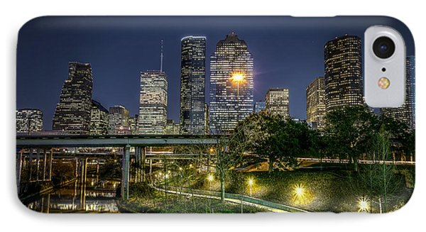 Houston On The Bayou IPhone Case by David Morefield