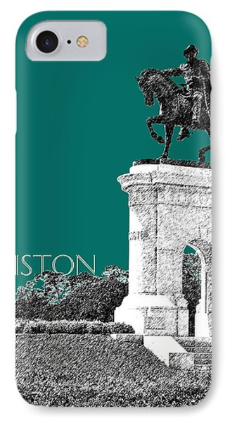Houston Sam Houston Monument - Sea Green IPhone Case by DB Artist