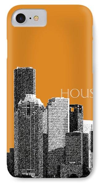 Houston Skyline - Dark Orange IPhone Case