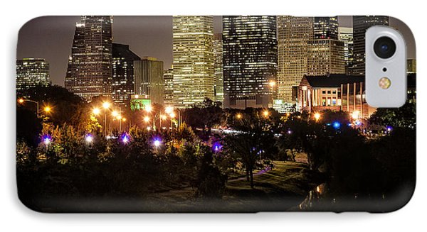 Houston Skyline From Buffalo Bayou IPhone Case