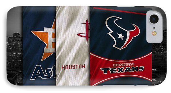 Houston Sports Teams IPhone Case by Joe Hamilton