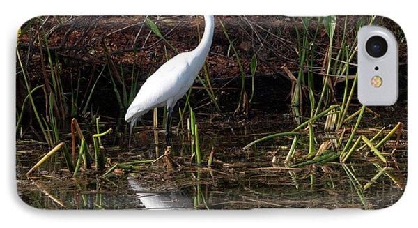 Houston Wildlife Great White Egret Phone Case by Joshua House