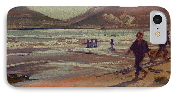 IPhone Case featuring the painting Hout Bay Beach Sunset by Thomas Bertram POOLE