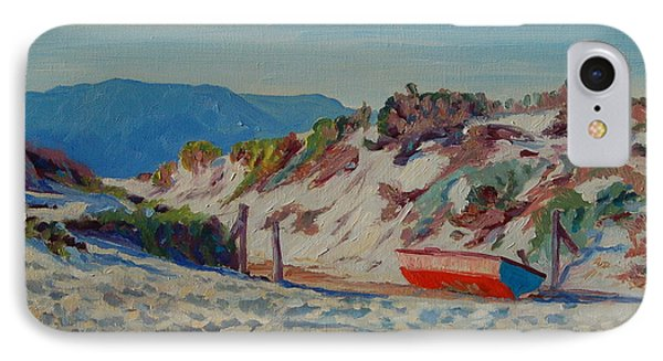IPhone Case featuring the painting Hout Bay Beach With Table Mountain by Thomas Bertram POOLE