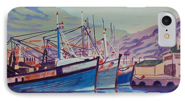 IPhone Case featuring the painting Hout Bay Fishing Boats by Thomas Bertram POOLE