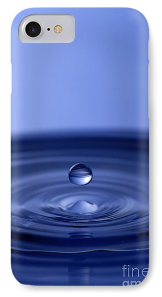 Hovering Blue Water Drop IPhone Case by Anthony Sacco