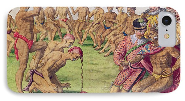 How A Sentry Was Treated For Negligence Phone Case by Jacques Le Moyne