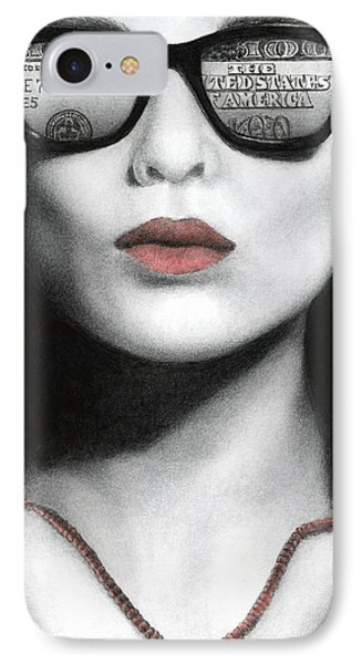IPhone Case featuring the painting How Do I Love Thee...let Me Count Your Money by Pat Erickson