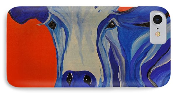 How Now Blue Cow IPhone Case
