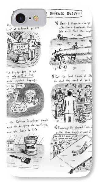 How To Cut The Defense Budget IPhone Case by Roz Chast