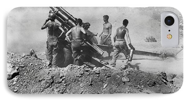 Howitzer Shelling In Korea IPhone Case by Underwood Archives