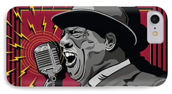 Howlin' Wolf Chicago Blues Legend Phone Case by Larry Butterworth