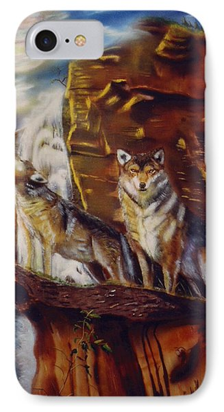 Howling For The Nightlife  IPhone Case by Thomas J Herring