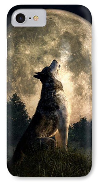 Howling Wolf IPhone Case by Daniel Eskridge