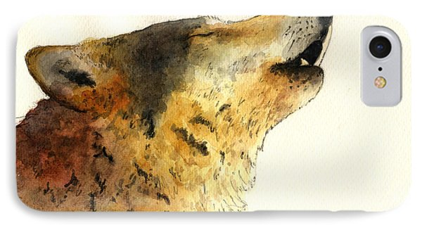 Howling Wolf. IPhone Case by Juan  Bosco