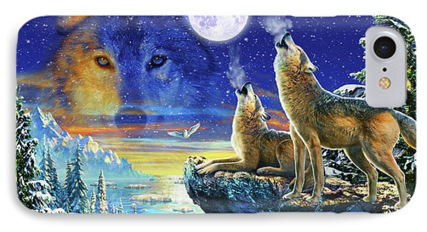Howling Wolves IPhone Case