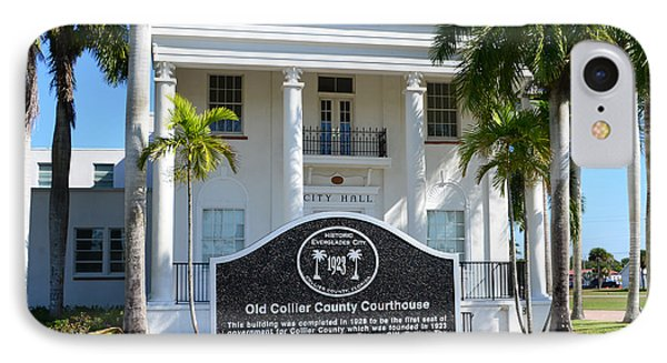 Collier County Courthouse Circa 1928 IPhone Case by David Lee Thompson