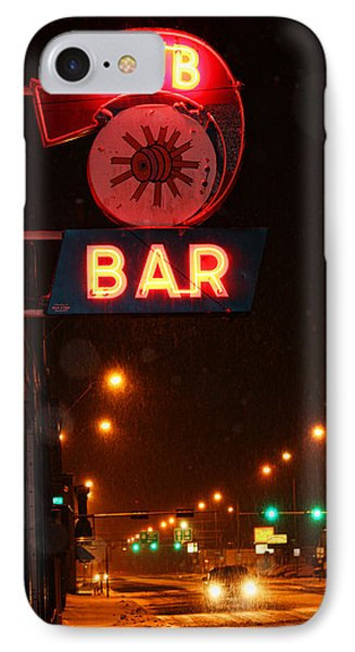Hub Bar Snowy Night IPhone Case