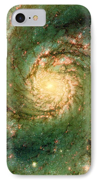 Hubble - The Heart Of The Whirlpool Galaxy IPhone Case by Paulette B Wright