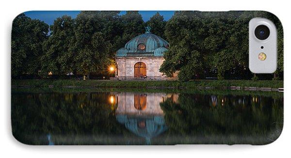 Hubertusbrunnen IPhone Case by John Wadleigh