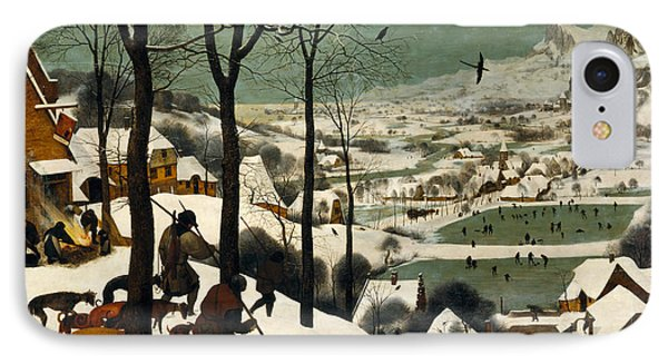Hunters On The Snow IPhone Case by Pieter Bruegel the Elder