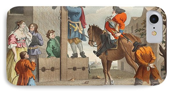 Punishment iPhone 7 Case - Hudibras Leading Crowdero In Triumph by William Hogarth
