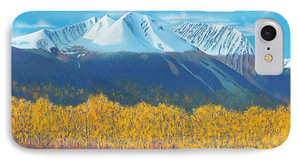 IPhone Case featuring the painting Hudson Bay Mountain by Stanza Widen