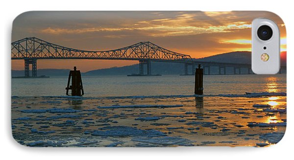 Hudson River Icey Sunset IPhone Case by Jeffrey Friedkin