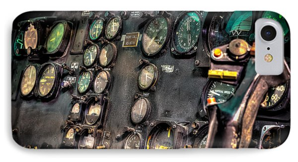 Helicopter iPhone 7 Case - Huey Instrument Panel by David Morefield