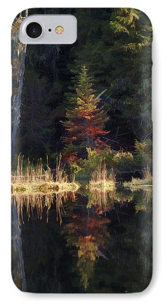 Huff Lake Reflection IPhone Case