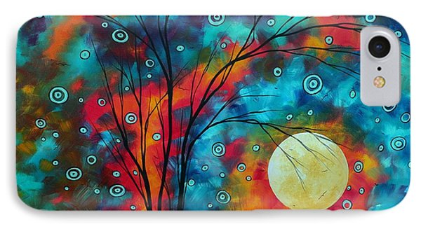 Huge Colorful Abstract Landscape Art Circles Tree Original Painting Delightful By Madart Phone Case by Megan Duncanson