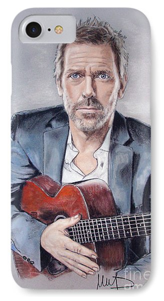Hugh Laurie IPhone Case by Melanie D