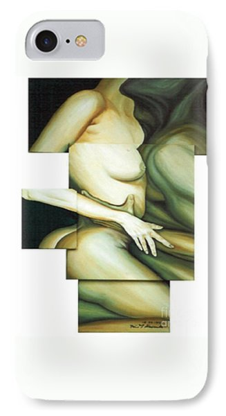 IPhone Case featuring the painting Hug_sold by Fei A